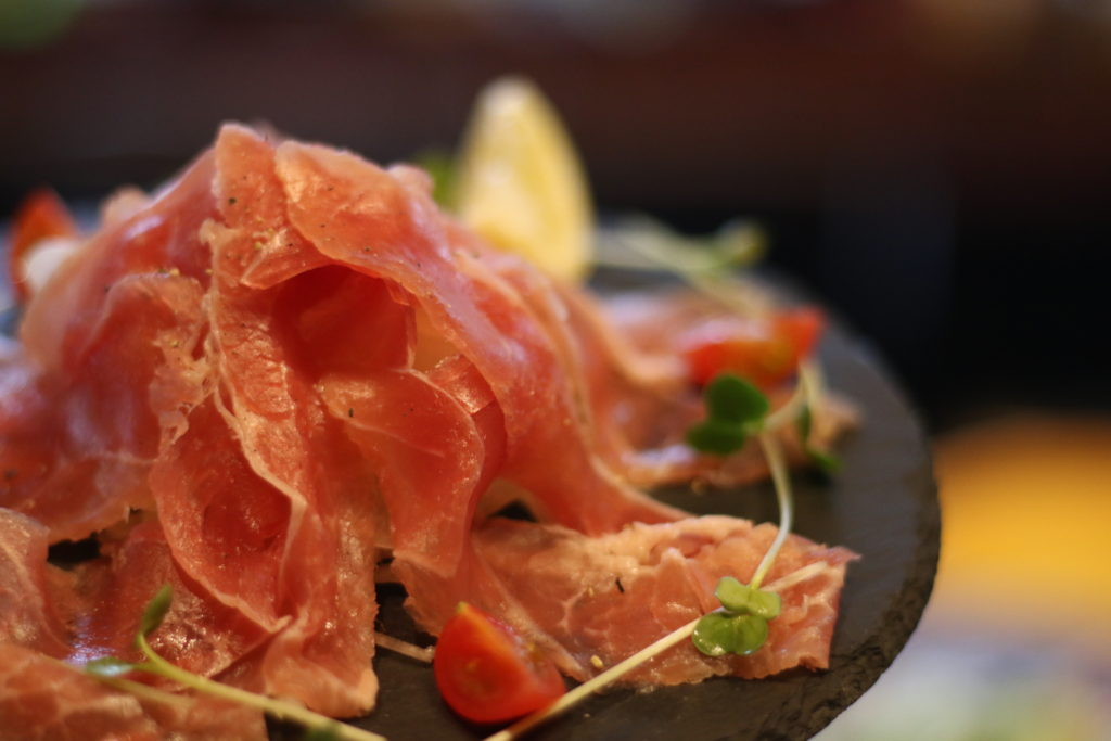 <strong>生ハム盛り<br>〜Prosciutto〜</strong> 880<small>円</small><br>